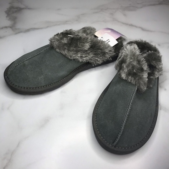 Chandra Genuine Suede Slide Slipper